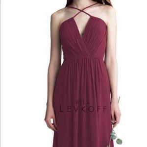 Wine/burgundy bridesmaid dress